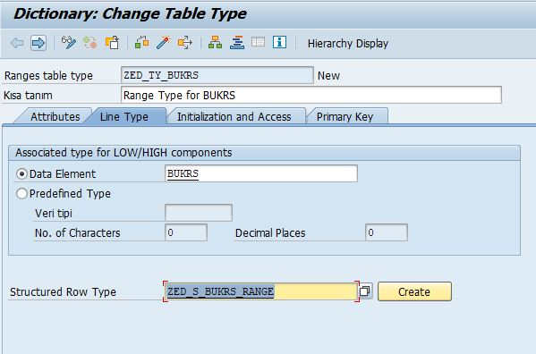 Create Structured Row Type